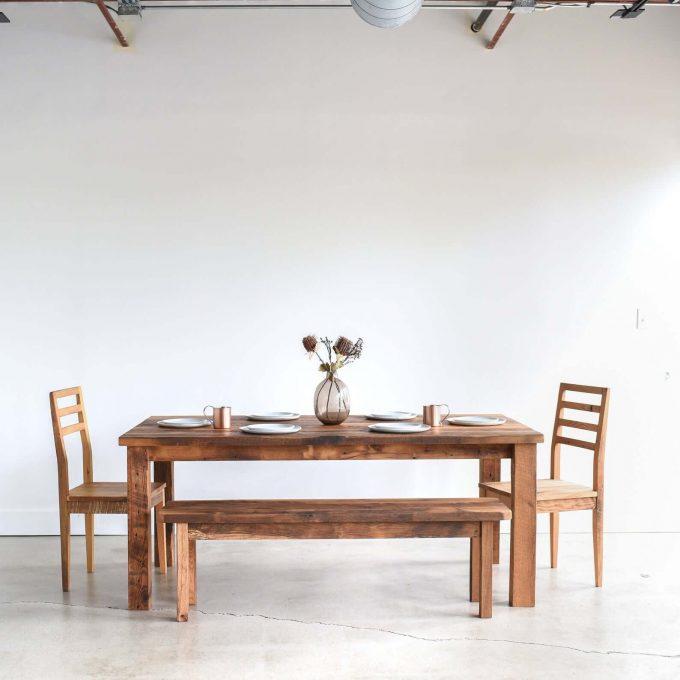 farmhouse dining set via etsy wedding registry