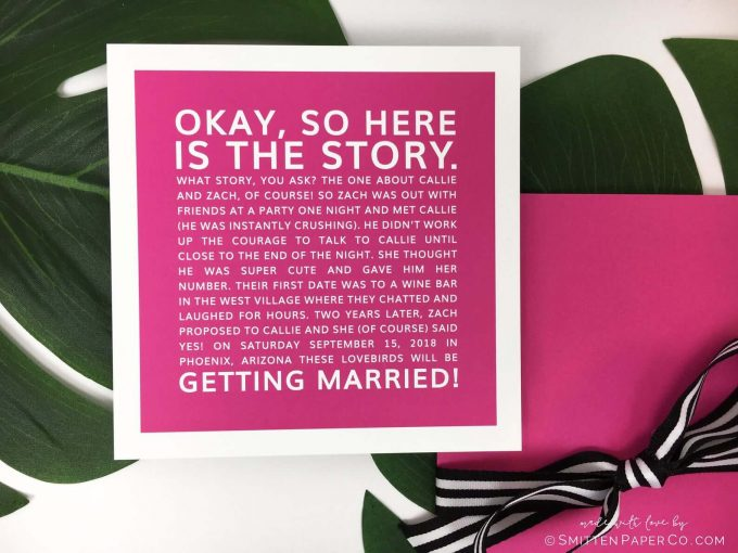 fun save the date story style
