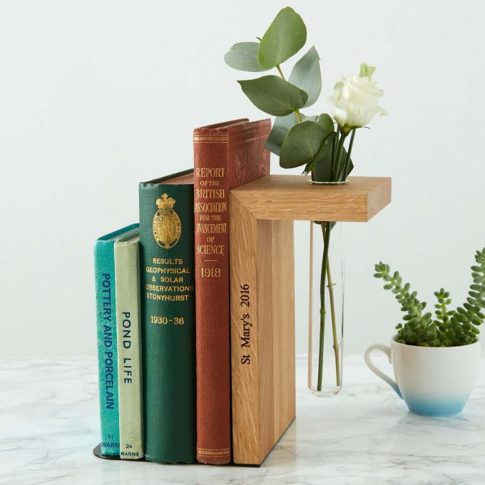 solid wood bookends via etsy wedding registry
