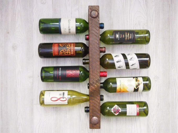 wood wine rack via etsy wedding registry
