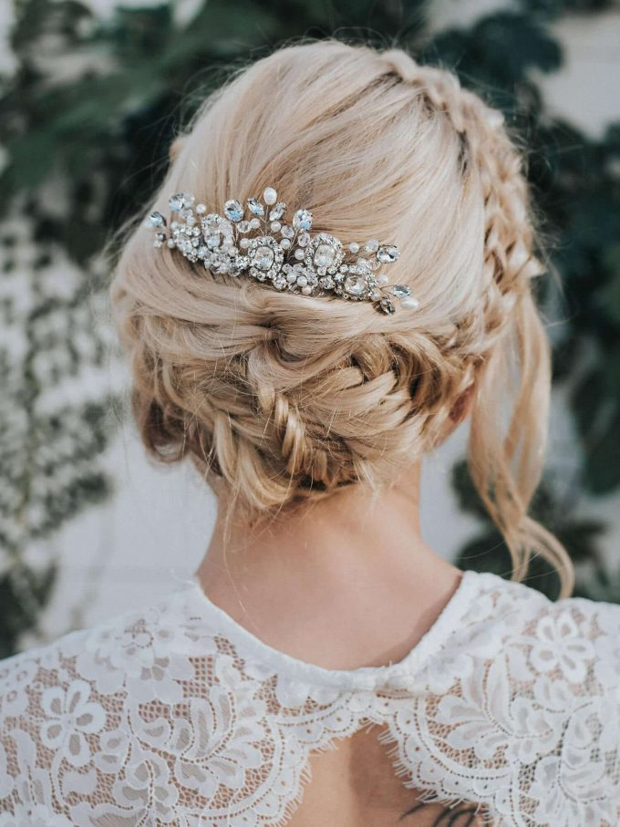 wedding updos with braids and curls
