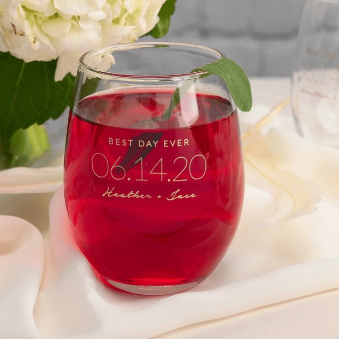 wedding glasses in bulk