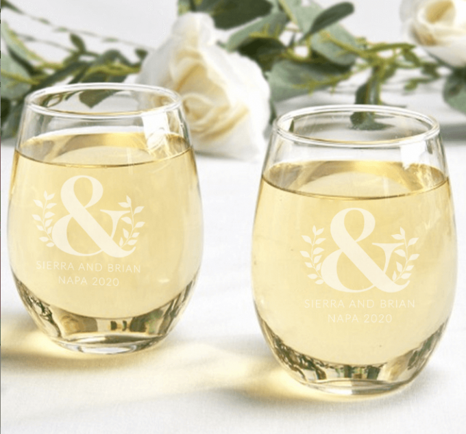 wedding glasses in bulk