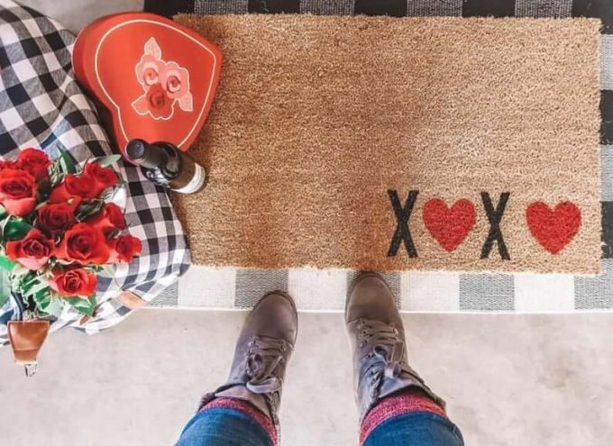 Valentine's Day doormats