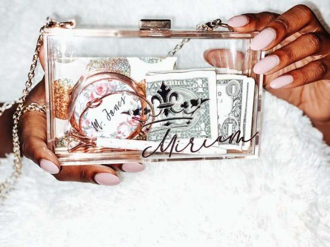 bride box clutch personalized