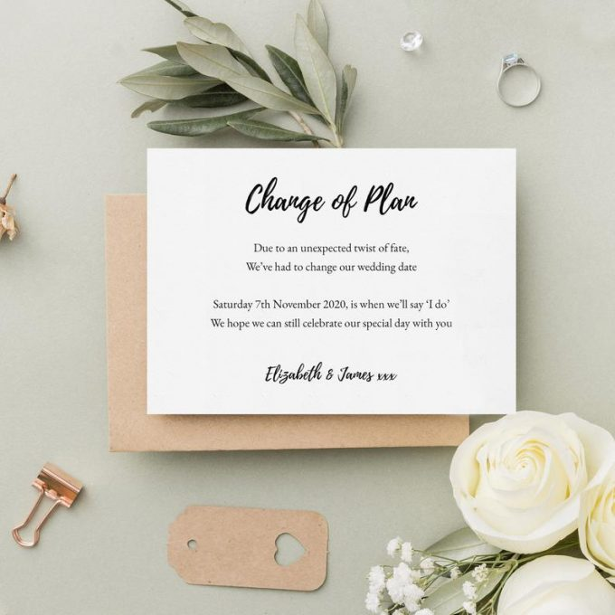 wedding postponement cards