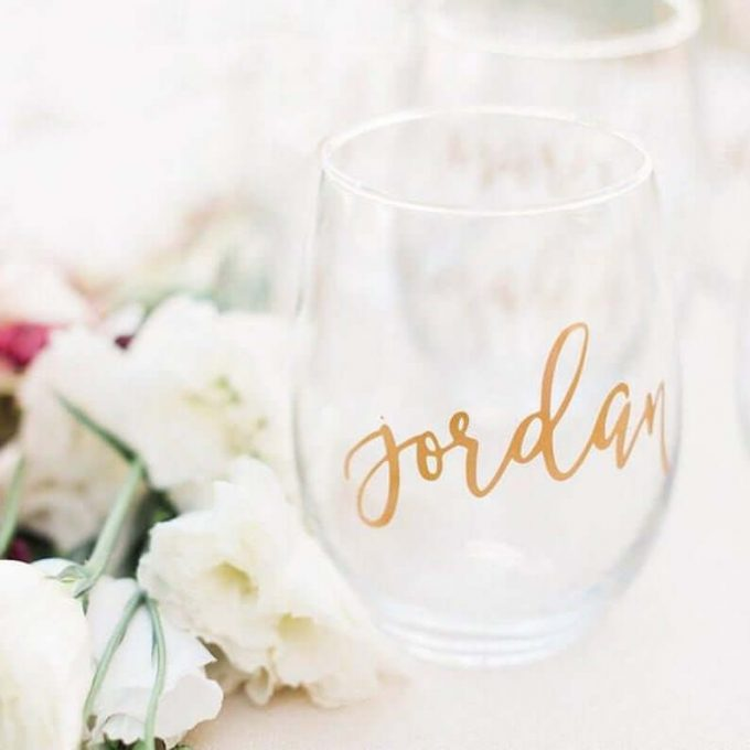 personalized wine glasses bridesmaids