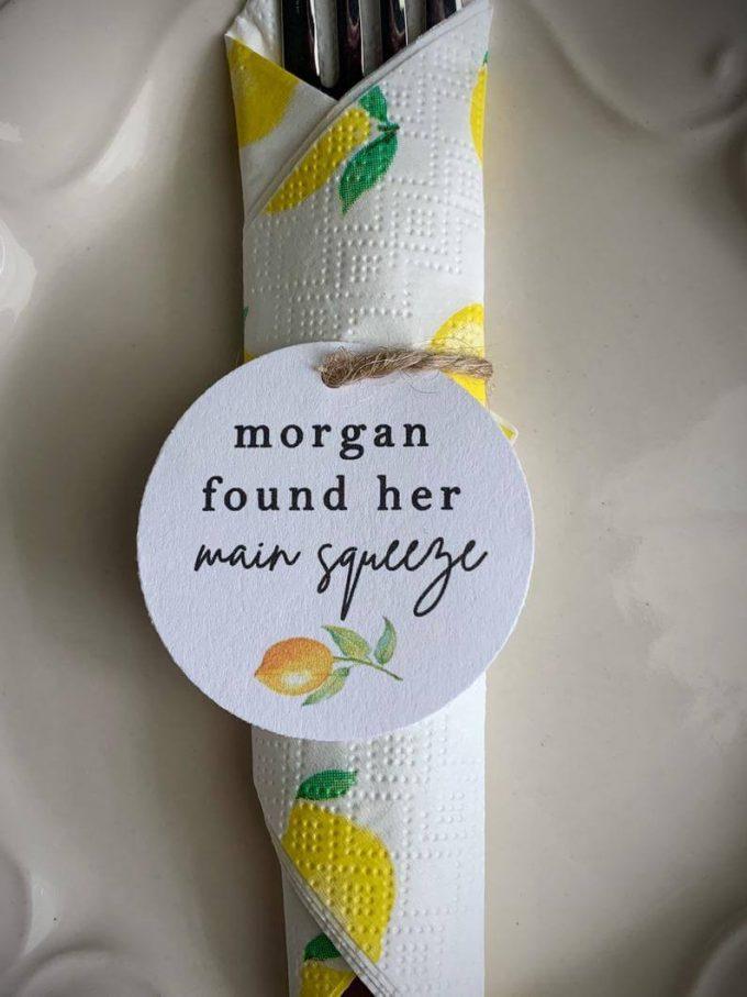 lemon bridal shower
