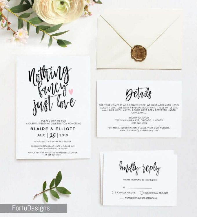 funny wedding invitation wording examples