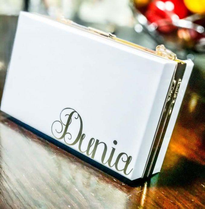 personalized bride clutch