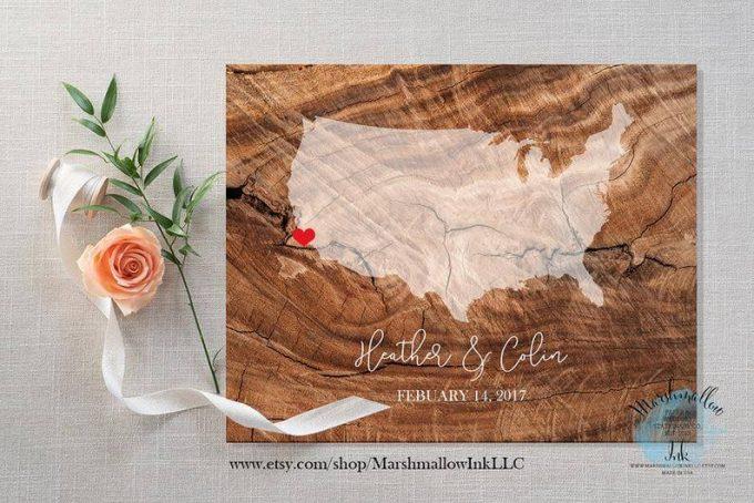 wedding map guest book