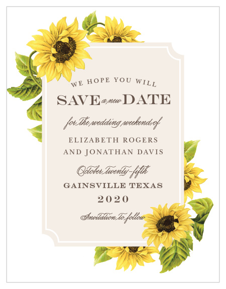 change the date wedding cards