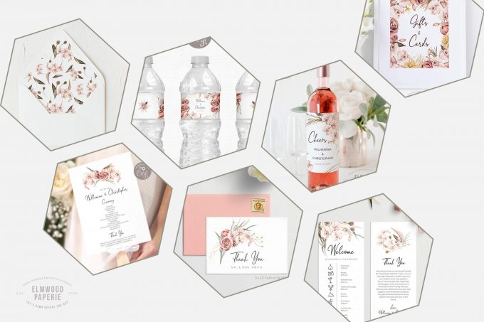 editable wedding invites