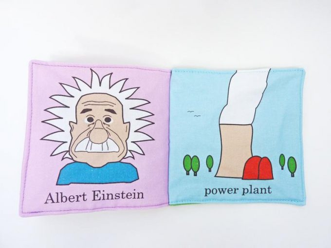nuclear physics cloth baby book