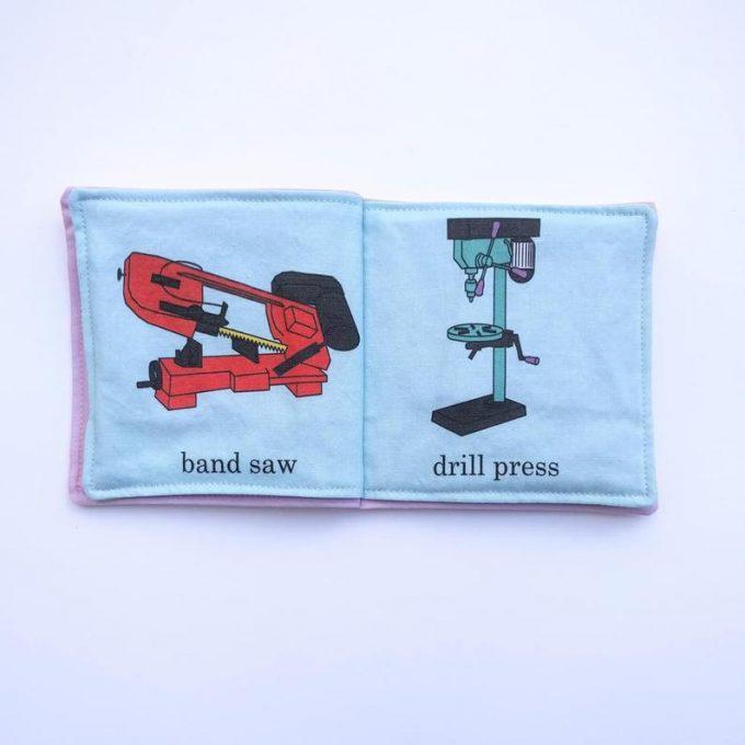 machine shop cloth baby book