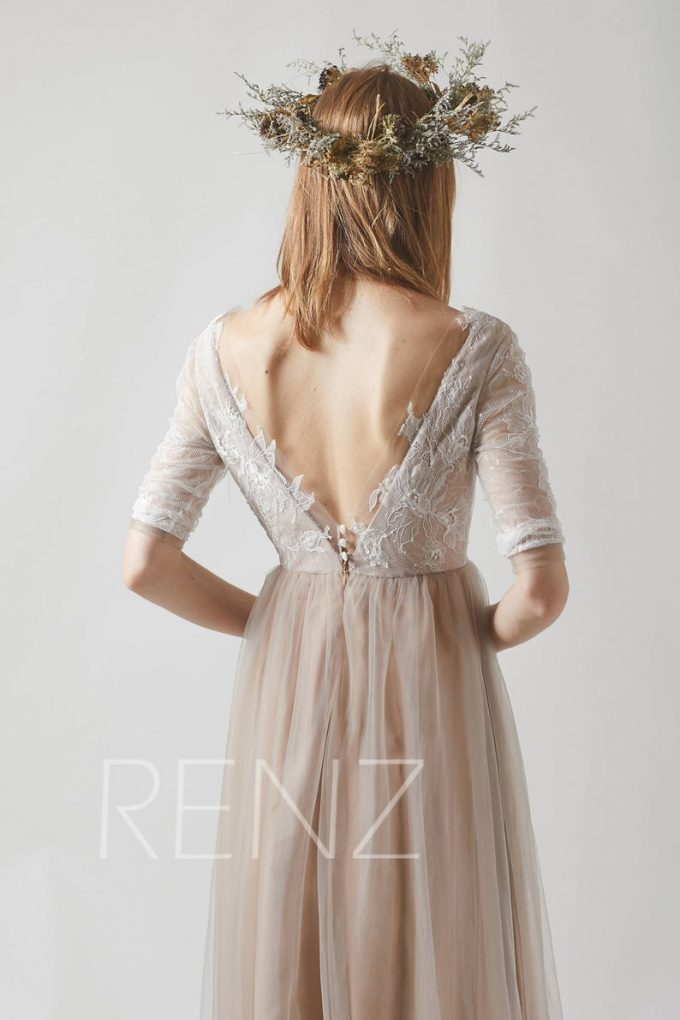 boho wedding dress under $200