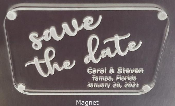 acrylic save the dates
