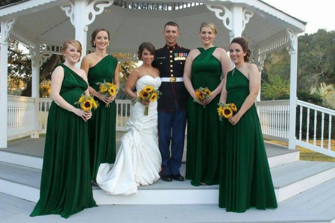 buy emerald green bridesmaid dresses
