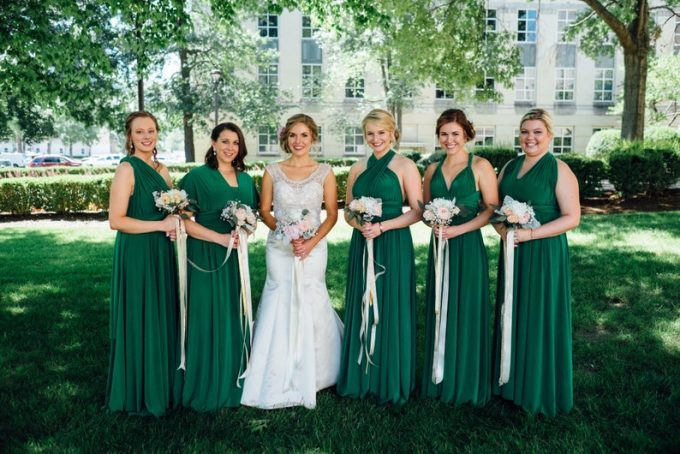 where to buy emerald green bridesmaid dresses