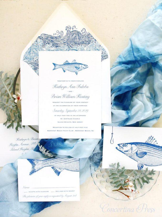 fishing wedding invitation