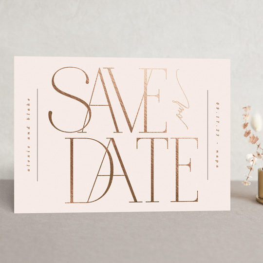 save the date no photo