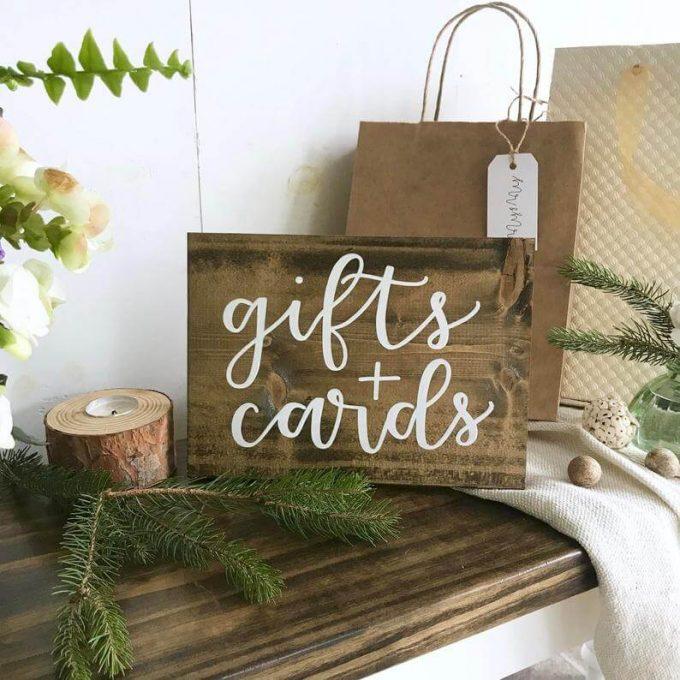 buy wooden wedding signs