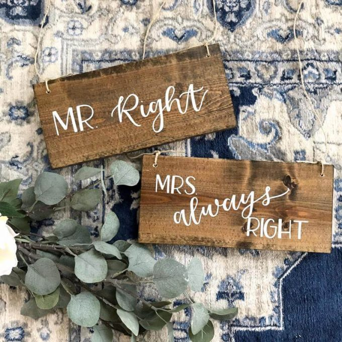 shop wooden wedding signs