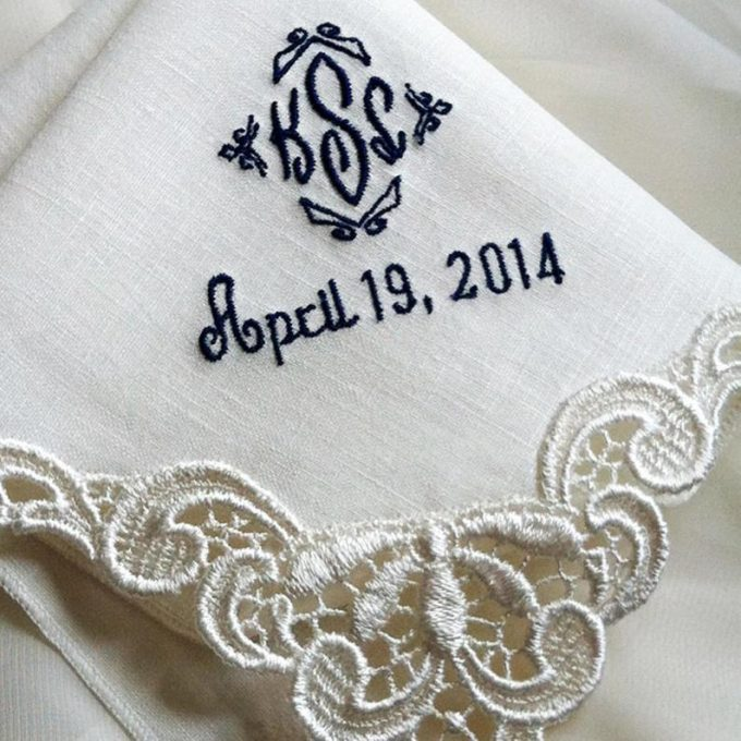 handkerchief for dad on wedding day
