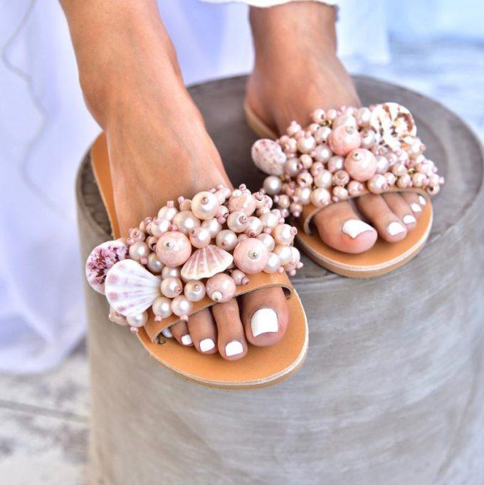 wedding sandals flat