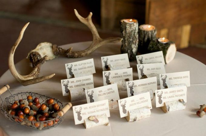 rustic place card holders