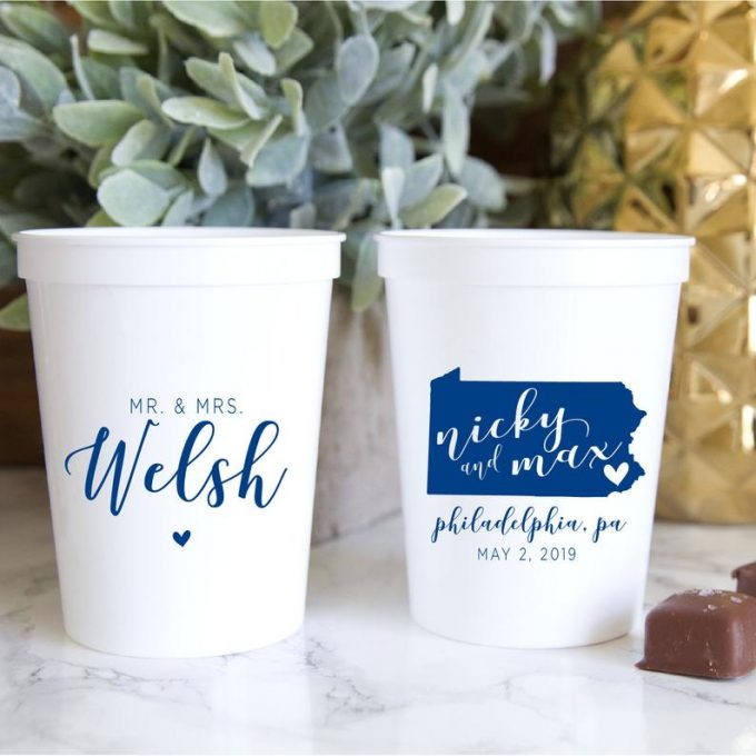where to buy personalized wedding cups in bulk