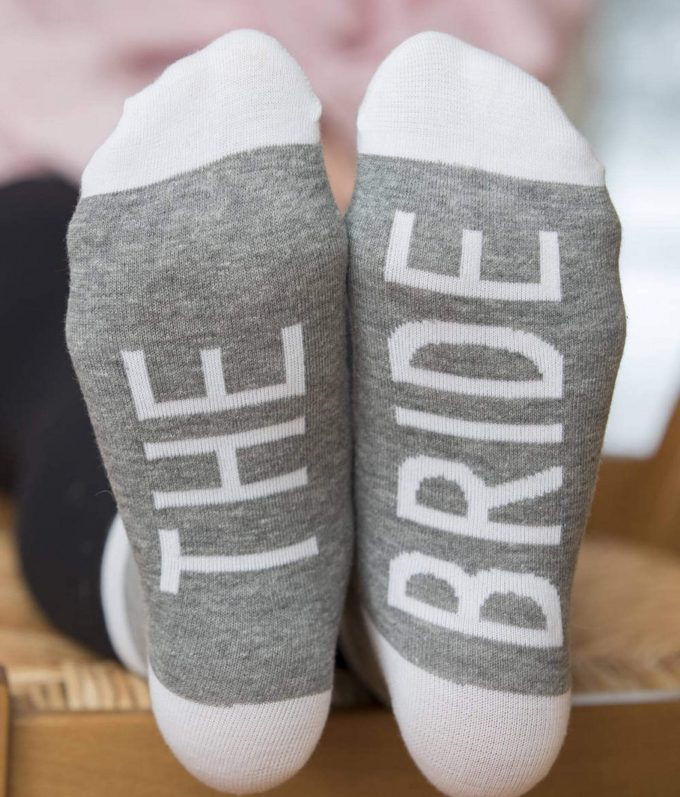 socks for bridesmaids