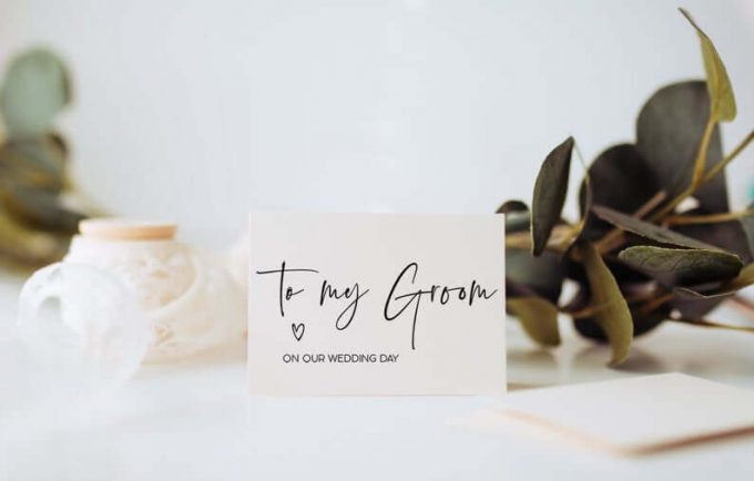 bride to groom cards