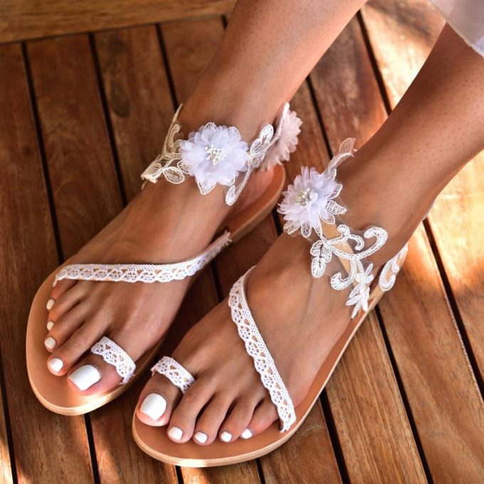 wedding sandals for bride