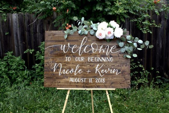 where to buy wooden wedding signs