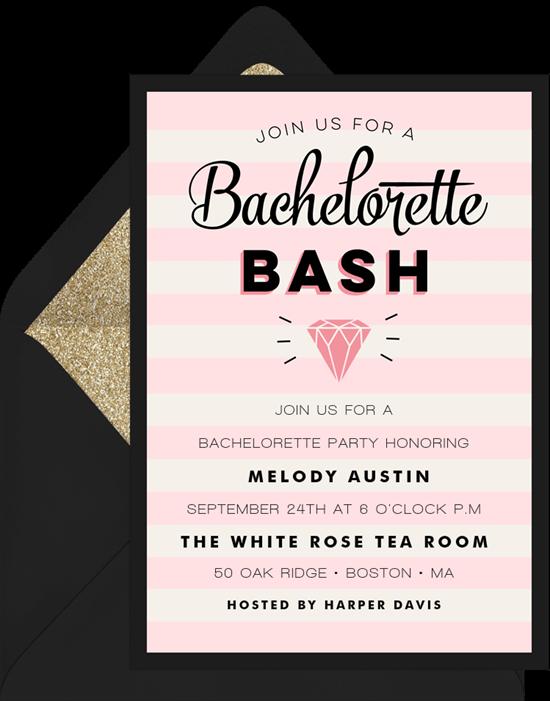 virtual bachelorette party invitations