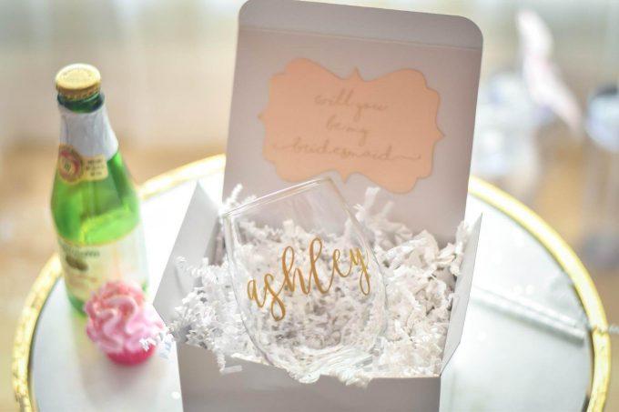 wine glass bridesmaid proposal box
