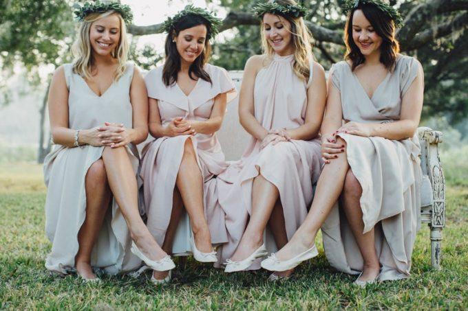 rollup ballet flats for bridesmaids