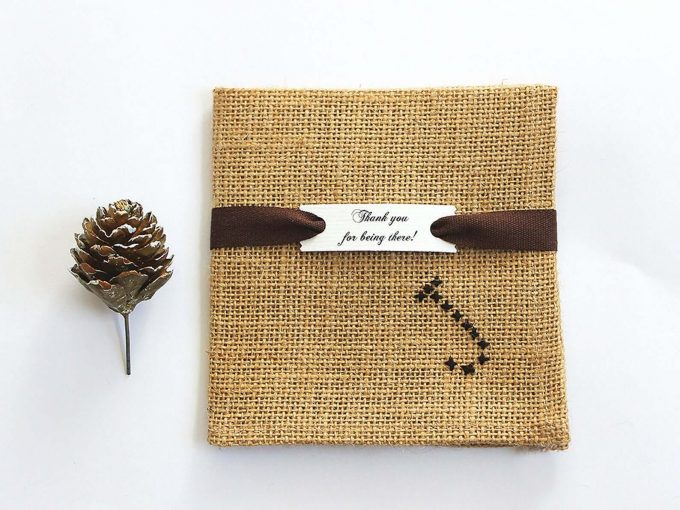 burlap pocket square