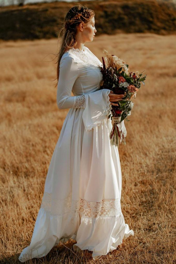 wedding dresses and cowboy boots