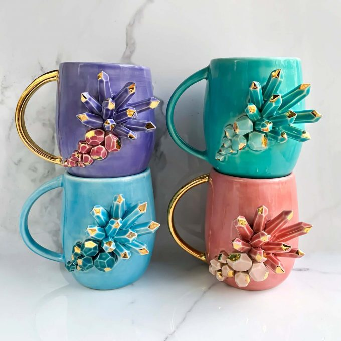 crystal coffee mugs