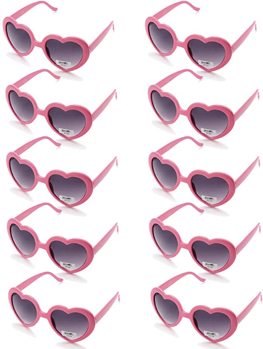 heart shaped sunglasses wedding