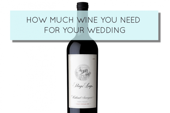 how much wine for weddings