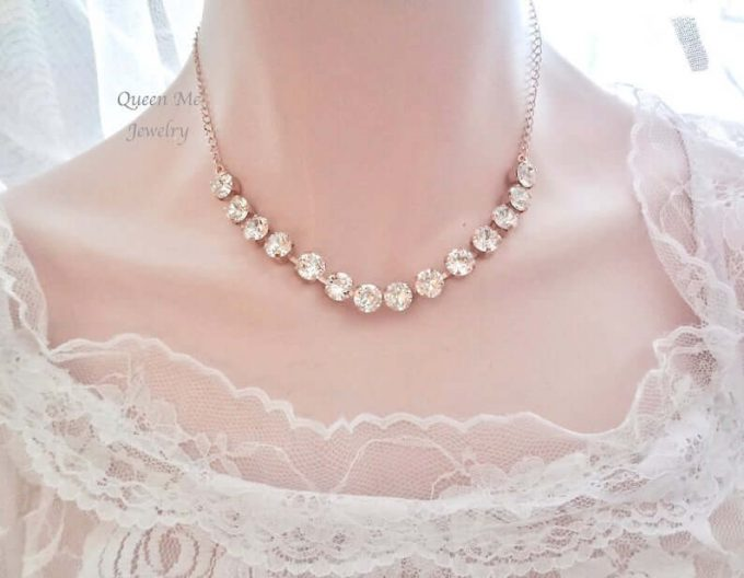 bridal jewelry for strapless dress