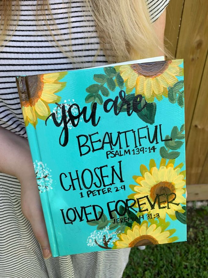 sunflower wedding Bible guest book