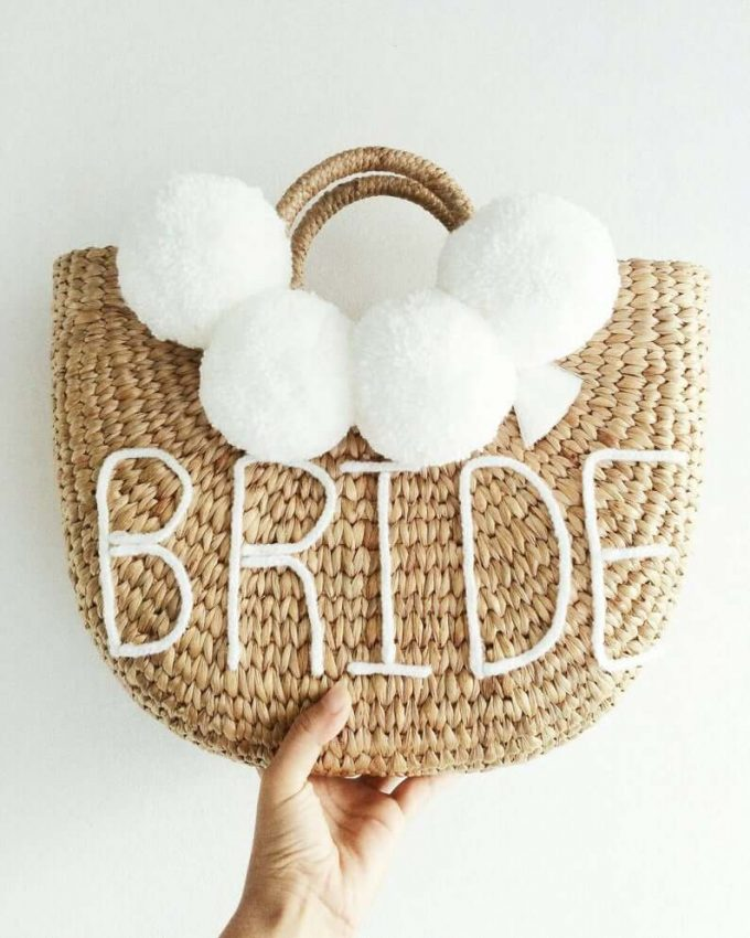 straw bag for bride