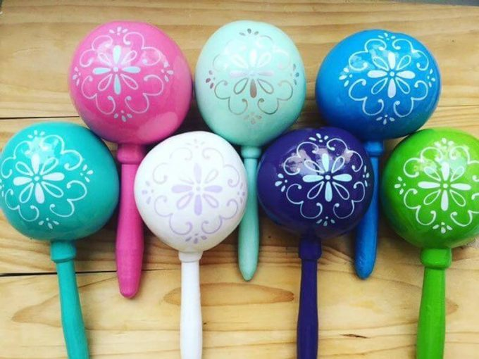 colorful wedding maracas favors