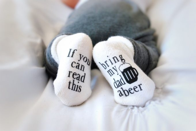 if you can read this baby socks