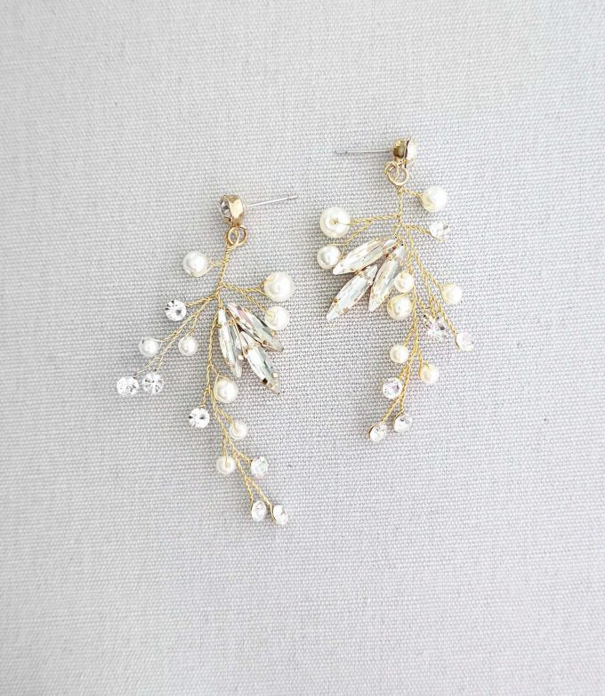 vine bridal earrings