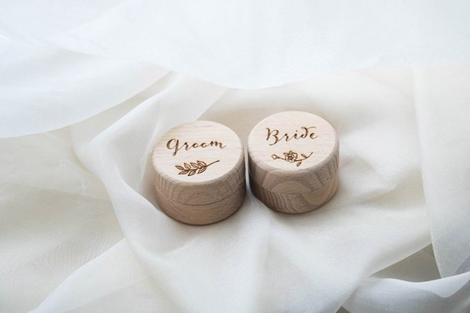 wedding ring box engraved